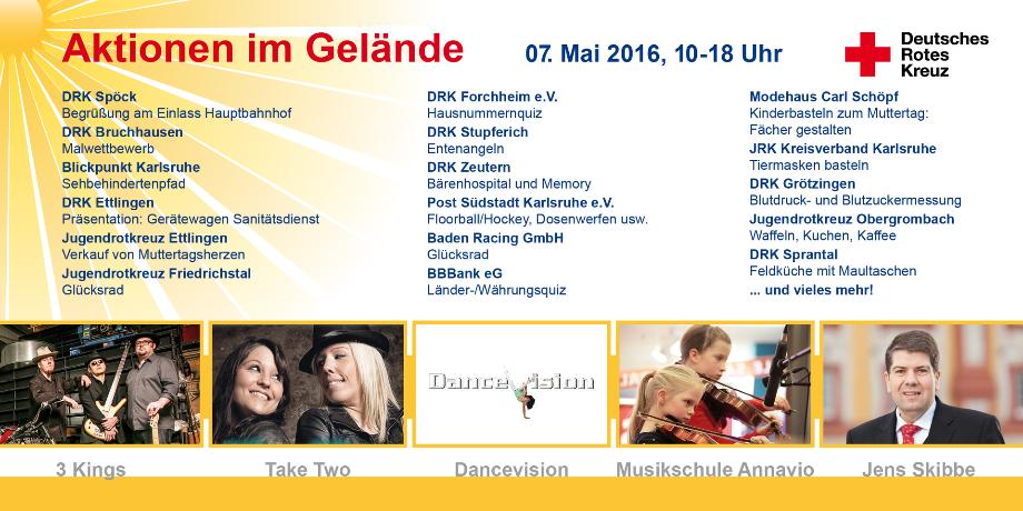 5. DRK Familientag 2016 in Karlsruhe - Aktionen auf dem Gelände des Karlsruher Zoo